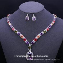 accesorios de moda chapado en oro conjuntos de joyas