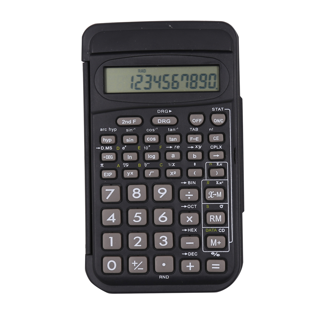 Calculatrice scientifique en silicone avec couverture Flip
