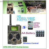 CE RoHs SMS GSM 12mp 1080p wireless night vision gsm solar camera