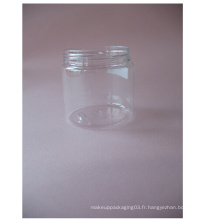 200ml Clear Pet Single Wall Jar Sans fermeture