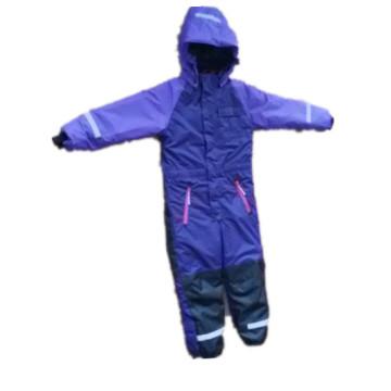 Purple Hooded Reflective Waterproof Jumpsuits