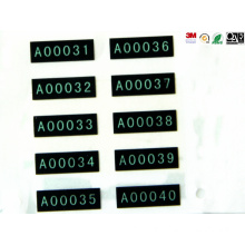 Black PVC Printing Labels