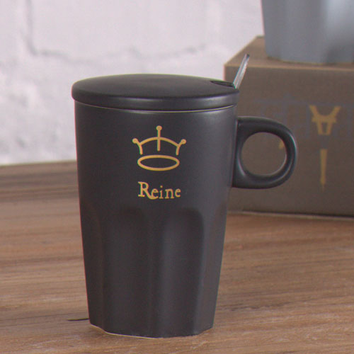 black matte effect coffee mug