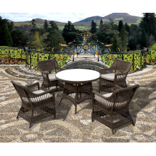 Round PE Rattan Dining Room Furniture Set