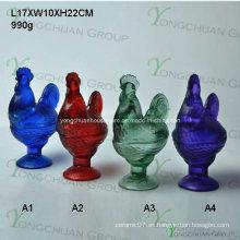 Cristal Cristal Candy Jar / Alimentos Jar / Rooster Jar