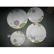 Haonai italiano platos de vajilla de cerámica placa, juego de vajilla