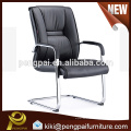 durable brief PU leather steel tubular visitor conference chair 01