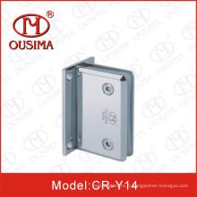 Charnière de porte en verre en alliage de zinc de 0 degrés utilisée dans la salle de douche (CR-Y14)
