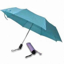 Folding/Pocket Umbrellas with Aluminum Shaft, Made of Nylon or Polyester Materials