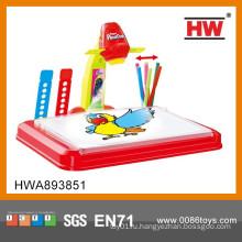 Пластиковый образовательный набор 3 в 1 игрушка-проектор для рисования