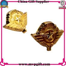 Металлический знак полиции с золотым цветом