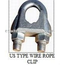 US-TYP GALV MALLEABLE DRAHT SEIL CLIPS FF-C-450 TYP 1 KLASSE 2