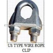 CLIPS POUR CORDE DE CÂBLE MALLEABLE GALV US TYPE FF-C-450 TYPE 1 CLASSE 2