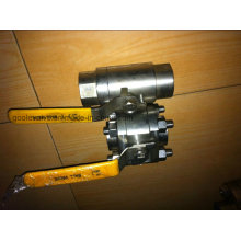 Válvula de bola flotante roscada de acero forjado 3PC (GQ11F)