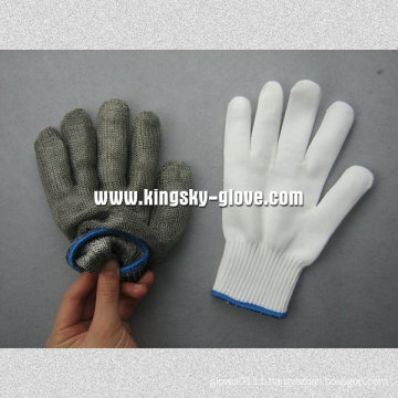 Double Layer Metal Mesh Cut Resistant Glove --2353