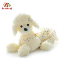 Cachorro de caniche felino realista hecho a mano de perrito negro Caniche de felpa francés de perro de juguete relleno personalizado para la venta