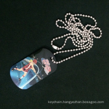 Offset Printing Dog Tag with Long Ball Chain for Promotion and Activity Awards