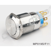 19mm Double Position Push Button Metal Switch