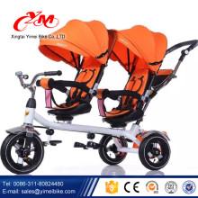 лучшее качество 3 колеса ребенок трехколесный велосипед для продажи/дешевой цене детские близнецы трехколесный велосипед/дети двойной сиденье трехколесный велосипед с завода в yimei