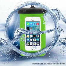 Sac imperméable de caisse de poche de PVC pour le téléphone portable de Samsung / iPhone / HTC