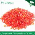 Декоративные дробленые светло-красные стеклянные чипсы