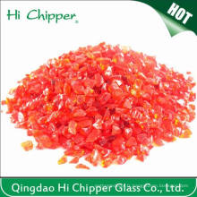 Chips de verre pour paysagistes Light Red Squash Glass Mirror Scraps