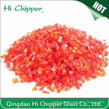 Decoration Crushed Light Red Glass Chips