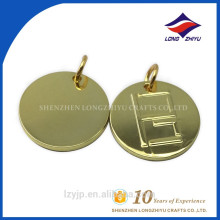 Metal material nice quality freely design bright gold dog tag