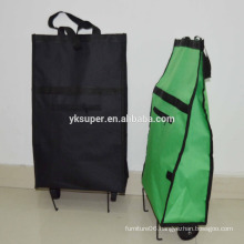 Eco-friendly 600D polyester best trolley bag for shopping with wheel