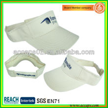 Summer cotton visor cap with embroidery VS-2603