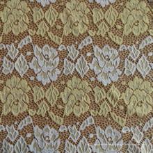 Einzelnes gefärbtes Brokat-Spitzengewebe