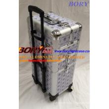 Großhandel personalisiert auf Rädern 3 Schichten Professional Beauty Box