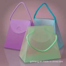 Transparent Clear Fashion Folding PVC gift box (plastic cosmetic bag)