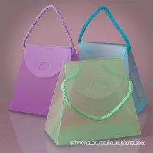Caja de regalo plegable transparente del PVC de la manera clara (bolso cosmético plástico)