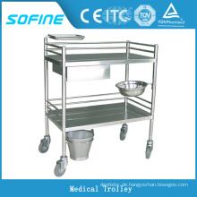 SF-HW2060 Krankenhaus ues Edelstahl medizinischer Abrichtwagen