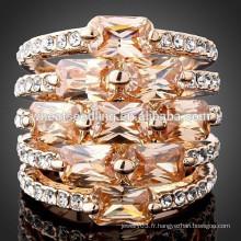 Dernier anneau en diamant en cristal zircon de haute qualité