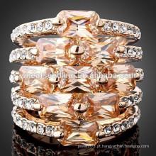 Último anel de diamante de cristal de zircão de cristal de design