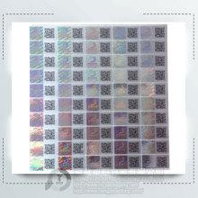 Profesional personalizado anti-falsificación 3d etiqueta engomada del holograma