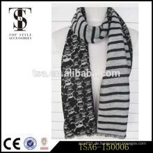 Schwarz und weiß zwei Seiten Damen modischen Viskose Schal mit Schädel Händler in China
