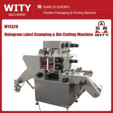Máquina de estampado de lámina caliente Holograma de etiquetas pequeñas y cortadora de troquel