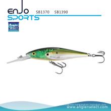 Angler Select New School Fish Fishing Tackle Fishing Lure with Vmc Treble Hooks (SB1370)