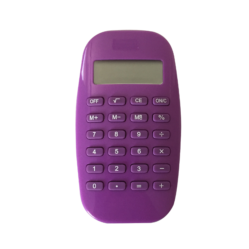 8 Digits Small Size Purple Smooth Pocket Calculator