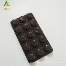 Triplex fila plástico PET bandeja de chocolate barra de embalaje
