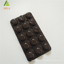triplex row plastic PET material chocolate bar packaging tray