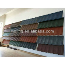 colourful stone coated metal roofing tile