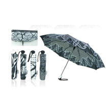 Black&White Foldable Duomatic Windproof Umbrellas (YS-3FD22083910R)