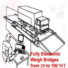 Puente de pesaje móvil para camiones