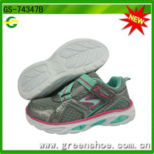 New Arrival Children Kids Sport Running Shoes with LED Light (GS-74347)