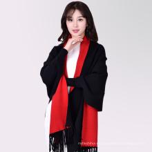 2017 venta Caliente moderna de dos colores todo fósforo dama invierno mujeres largo chal bufanda falsa pashmina bufanda
