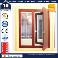 Customzied doble acristalamiento ventanilla de aluminio con obturador